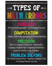 Types of Math Errors 16x24 Poster front