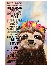 Sloth 16x24 Poster front