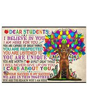 Dear Students Poster 24x16 Poster front