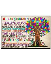 Dear Students Poster Horizontal Poster tile