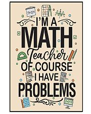 Teacher Math 16x24 Poster front