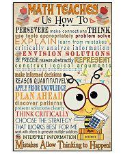 Math Teacher 16x24 Poster front