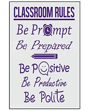 Classroom Rules 16x24 Poster front