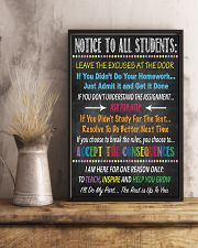 Notice to all students 16x24 Poster lifestyle-poster-3