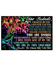 Dear Student 17x11 Poster front
