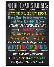 Notice to all Students 16x24 Poster front