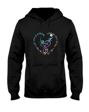 Peace love Hooded Sweatshirt front