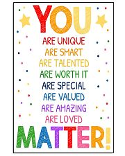 You Matter Classroom 16x24 Poster front