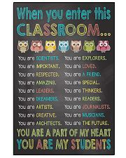 When you enter This Classroom 16x24 Poster front
