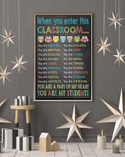 When you enter This Classroom 16x24 Poster lifestyle-holiday-poster-1