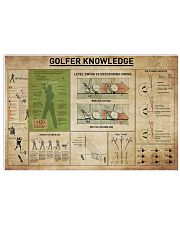 Golfer Knowledge 36x24 Poster front