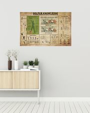 Golfer Knowledge 36x24 Poster poster-landscape-36x24-lifestyle-01