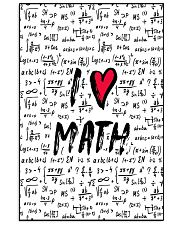 I love Math 16x24 Poster front