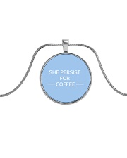 She persist for Coffee Metallic Circle Necklace thumbnail