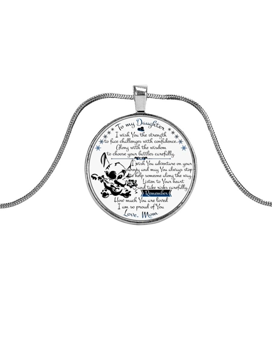 stf260112 Metallic Circle Necklace