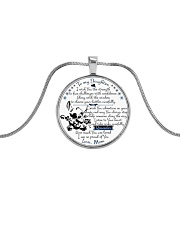 stf260112 Metallic Circle Necklace front