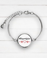 Fplegerin-Leben Metallic Circle Bracelet aos-bracelet-metal-front-lifestyle-2