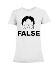Dwight Schrute False Premium Fit Ladies Tee thumbnail