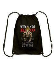 Super Saiyan Train Hard Saiyans GYM Drawstring Bag front
