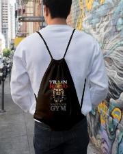 Super Saiyan Train Hard Saiyans GYM Drawstring Bag lifestyle-drawstringbag-front-1