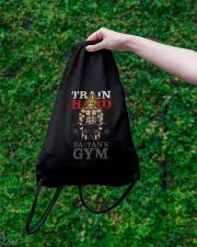 Super Saiyan Train Hard Saiyans GYM Drawstring Bag lifestyle-drawstringbag-front-3