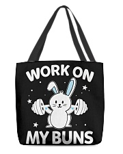 Work on my Buns muscle gym power muscle All-Over Tote tile