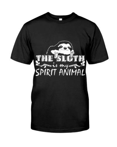 THE SLOTH IS MY SPIRIT ANIMAL SLOTH T SHIRT