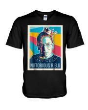 Vintage Notorious Rbg Tshirt V-Neck T-Shirt thumbnail