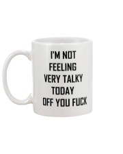 I'M not feeling very talky today off you fuck Mug back