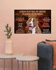 pitbull visiting my house 24x16 Poster poster-landscape-24x16-lifestyle-22