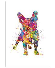french bulldog water corlor 11x17 Poster front