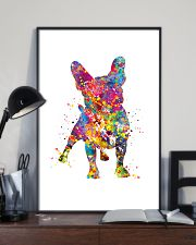 french bulldog water corlor 11x17 Poster lifestyle-poster-2
