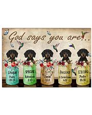 Dachshund God Says You Are 24x16 Poster front