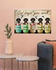 Dachshund God Says You Are 24x16 Poster poster-landscape-24x16-lifestyle-22
