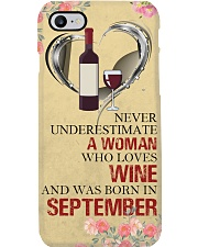 Wine A Woman September Phone Case i-phone-7-case