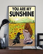 Dachshund You Are My Sunshine 11x17 Poster lifestyle-poster-2