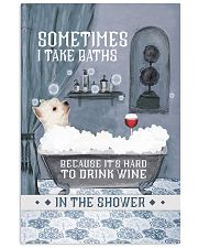 Westie I Take Baths 11x17 Poster front