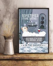 Westie I Take Baths 11x17 Poster lifestyle-poster-3