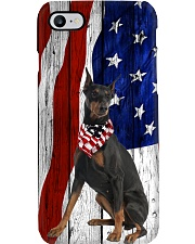 Doberman Pinscher Usa Flag Phone Case i-phone-8-case