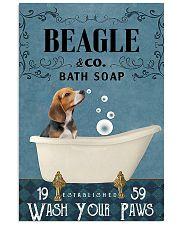 beagle bath soap blue 11x17 Poster front