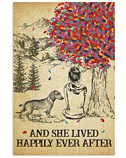 Dachshund She Lived Happily 11x17 Poster front