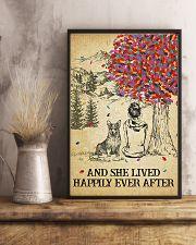 Corgi She Lived Happily 11x17 Poster lifestyle-poster-3