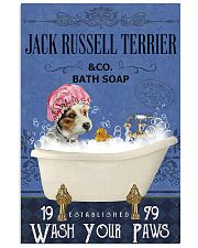jack russell terrier bath soap Lavender 11x17 Poster front