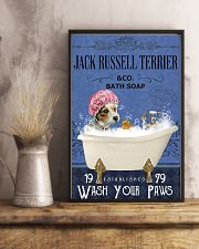 jack russell terrier bath soap Lavender 11x17 Poster lifestyle-poster-3