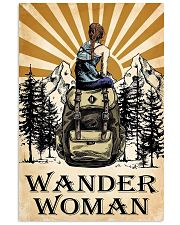 hiking wander woman 11x17 Poster front