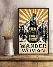 hiking wander woman 11x17 Poster lifestyle-poster-3
