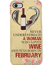 Wine A Woman February Phone Case i-phone-8-case