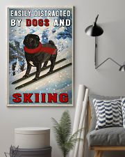 distracted pug and skiing 11x17 Poster lifestyle-poster-1