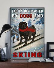 distracted pug and skiing 11x17 Poster lifestyle-poster-2