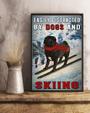 distracted pug and skiing 11x17 Poster lifestyle-poster-3